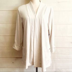 NWT Kim Rogers Open Face Loose Fit Cardigan XL